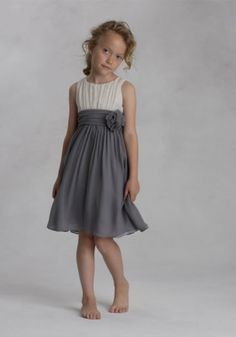 a76013ce61a flower girl dress idea....gray and yellow Ivory Flower Girl Dresses