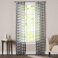 Nakita Geometric Semi-Sheer Rod Pocket Single Curtain Panel