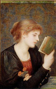 Marie Spartali Stillman 'Love Sonnets' 1894 by Plum leaves, via Flickr