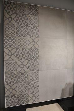 Lea Ceramiche Serie District Fliesen in Betonoptik mit Dekorfliesen. #Fliesen #LeaCeramiche #Dekorfliesen