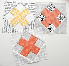block pattern by Rachel/Wooden Spoon Quilts; up-sized by permission; more details in discussion group