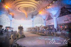 Angelic - Nam&Ngoc #misavuluxuryevents #MisaVu #Decorations #Angelic #Wedding #luxury #white #events #stage #aisle #architecture #party #space
