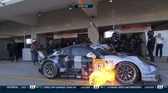 Porsche 911 Makes A Fuel Fireball In The Pits At COTA