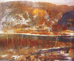 Paysage - The Hill de Daniel Garber (1880-1958, United States)
