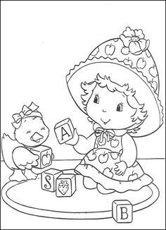 Coloriage Dessins. Dessins à imprimer et la couleur en ligne. Strawberry Shortcake 16