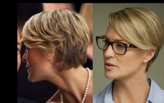"Actress Robin Wright ""House of Cards"" Love the hair cut! Who say that short can't be sexy!"