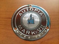 Autopia Metal badge from back of Mark VII Autopia body. Sold on Ebay 1/2014 for $140.00.