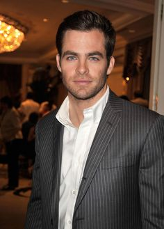 Chris Pine.  SubCategory A: Suit Porn.  SubCategory B: Buttony Allergy is Catching.