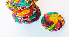 Rainbow Pinwheel Cookies - I will be doing these the next time I make sugar cookies!