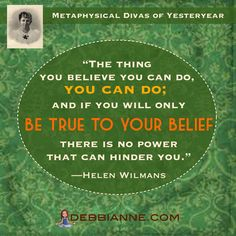 """Helen Wilmans (1831-1907) was an American """"Mental Science"""" writer. Metaphysical Divas of Yesteryear series brought to you by debbianne.com <--- Empowerment 