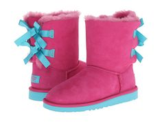 Kids Bailey Bow UGGS in Princess Pink/Blue Curacao -  uggcheapshop.com  SNOW boots outlet only $89.99 for Christmas gift,press picture link to get it immediately!!! Not long time for cheapest!!!