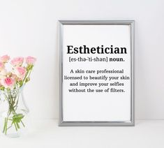 Esthetician Definition Print - Salon Decor Print, Esthetician Decor, Beauty Salon Decor, Printable Hair Salon Decor, Spa Décor - The Effective Pictures We Offer You About Nail winter A quality picture can tell you many things. Mary Kay, Design Salon, Salon Interior Design, Spa Design, Beauty Spa, Beauty Room, Beauty Hacks, Natural Beauty, Hair Beauty