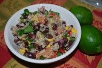 up frozen corn, thawed 2 cups cooked quinoa 2 large (ripe but firm) avocado, diced 1 small bunch fresh cilantro