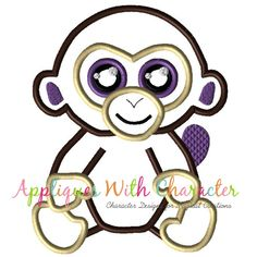 cd41fe006a1 Beanie Boo Monkey Applique Design by Appliques With Character Beanie Boos