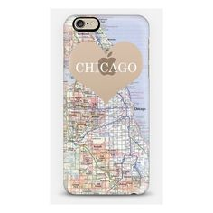 Heart Map Chicago (2.375 RUB) ❤ liked on Polyvore featuring chicago