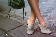 Image via We Heart It #bag #Balenciaga #girl #green #grey #oxford #shoes
