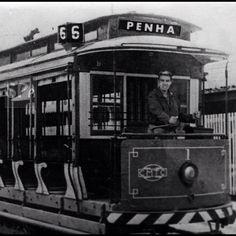 Old trolley line in Sao Paulo, circa 1961