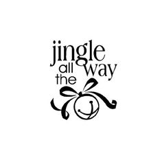 Christmas Decal Jingle All the Way Glass Block, Tile, or Plate Vinyl Sticker