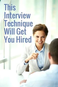 Career infographic & Advice This Interview Technique Will Get You Hired Teaching Job Interview, Teacher Interview Questions, Teacher Interviews, Interview Answers, Interview Skills, Job Interview Tips, Interview Preparation, Teaching Jobs, Preparing For An Interview