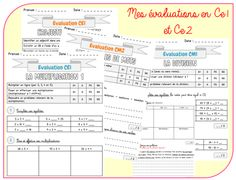 Mes évaluations en maths et en français (CE) - Christall'Ecole