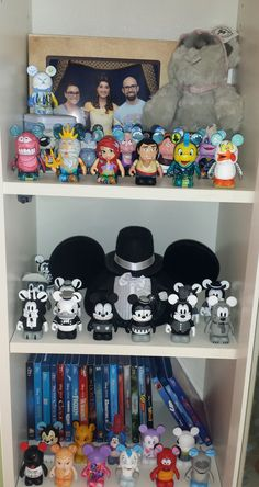 Disney collection in #BILLY bookcase. #Vinylmations #Disney