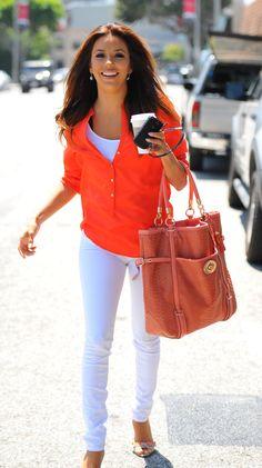 Eva Longoria, White Jeans