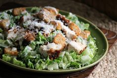 Comfy Cuisine: Crouton-Crusted Chicken Caesar Salad