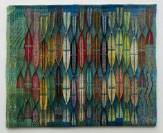 "Judith Poxson Fawkes Second Fleet 2012 linen double weave 31.5"" x 39"""