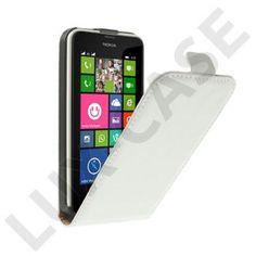 Idaho (Vit) Nokia Lumia 630/635 Äkta Läderfodral