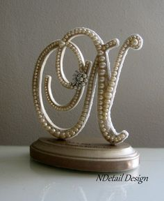 Wedding Cake Topper & Display Monogrammed Letter by NDetailDesign, $115.99