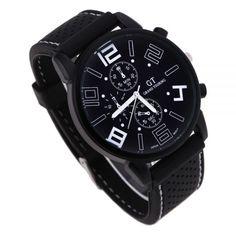 Елегантен мъжки часовник в черно и бяло Код: 129