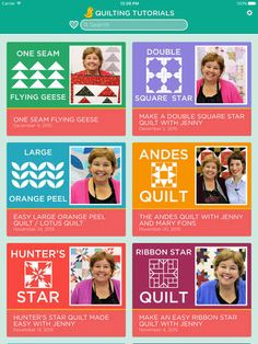 I LOVE this APP! Quilting Tutorials by Missouri Star Quilt Company on the App Store