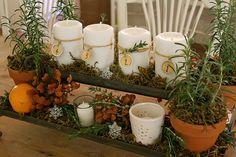 lovely advent candle arrangement.