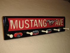 Classic Mustang Ave coat rack hangup by tomshangups on Etsy, $32.00