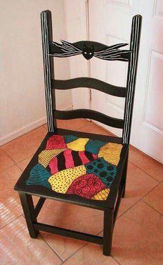 Nightmare Before Christmas wood chair