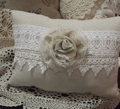 shabby chic heart pillows | Shabby Chic pillows, Paris style pillows