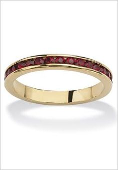 Plus Size Birthstone Stackable Eternity Band