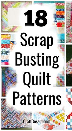 Scrap Busting Quilt Patterns – Quilting