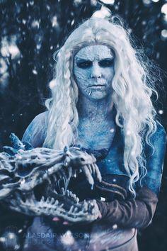 My White Walker / Daenerys Targaryen Mashup Cosplay http://geekxgirls.com/article.php?ID=8202