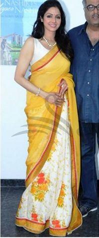 Sridevi in Orange Manish Malhotra Saree