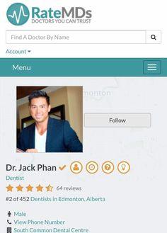 Profile & Bio are up @RateMDsdotcom Come and visit @DrJPhan @PhanDental #yegdentist #yeg #Phandental