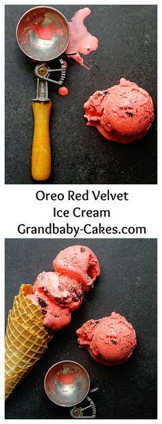 Oreo Red Velvet Ice Cream | Grandbaby Cakes