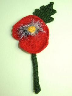This is my FREE Poppy Flower Buttonhole Accessory knitting pattern. Tea Cosy Knitting Pattern, Knitting Patterns Free, Free Knitting, Crochet Patterns, Free Pattern, Knitting Hats, Knitted Poppies, Knitted Flowers, Little Flowers