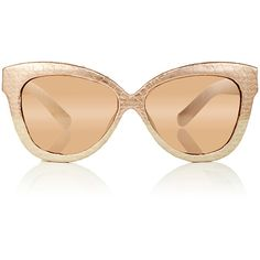 Linda Farrow Rose Gold Snakeskin Cat Eye Sunglasses ($1,105) ❤ liked on Polyvore featuring accessories, eyewear, sunglasses, rose sunglasses, linda farrow sunglasses, retro sunglasses, rose glasses and retro glasses