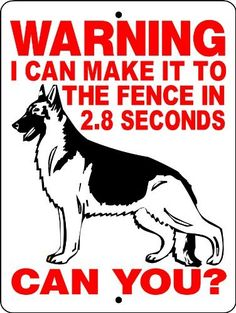 """GERMAN SHEPHERD DOG SIGN 9x12 ALUMINUM ANIMALZRULE ORIGINAL DESIGN - NO ONE ELSE IS AUTH0RIZED TO SELL THIS SIGN (Any one else selling this sign is selling a CHEAP COPY) THIS SIGN COMES WITH (2) HOLES FOR EASY MOUNTING. by Animalzrule. $13.00. THIS LISTING IS FOR (1) ALUMINUM DOG SIGN SIZE: 9""""x12"""" MATERIAL: .040 ALUMINUM (WILL NEVER RUST) VINYL GRAPHICS: 6 YEAR EXTERIOR VINYL THIS SIGN IS MADE FROM .040 ALUMINUM (WILL NEVER RUST). ALL OUR SIGNS..."""