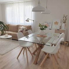 32 designing my modern and minimalist dining room with havenly 4 Apartment Interior, Room Interior, Interior Design Living Room, Apartment Hacks, Living Room Decor Cozy, Rugs In Living Room, Small Apartment Living, Spacious Living Room, Home Room Design
