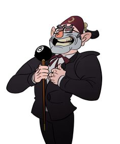 grunkle stan by yinyanglammy