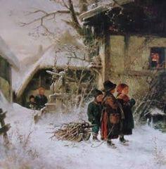 """""""Herbergssuche"""", Ernst Fröhlich, 1877"""
