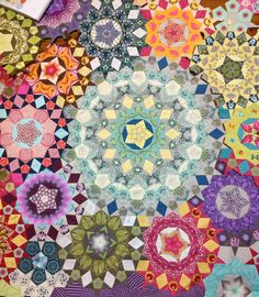 "Lilabelle Lane: A little more on my ""La Passacaglia"". Love the color and the patterns."
