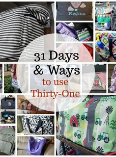 the 31 Days and Ways to make your life easier with Thirty-One Looking for ways to make your life easier? Check out these ways we've improved our life thanks to Thirty-One Gifts. Who doesn't want life to be easier? Thirty One Logo, Thirty One Baby, Thirty One Hostess, Thirty One Games, Thirty One Purses, Thirty One Business, Thirty One Organization, Bag Organization, Thirty-one Taschen